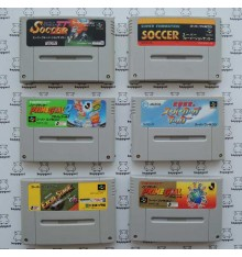 Lot pas cher 6 Jeux football Super Famicom