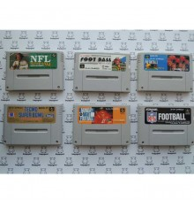 Lot pas cher 6 jeux football americain Super Famicom