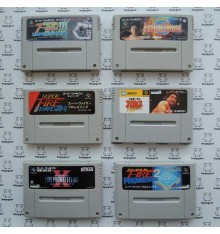 Lot pas cher 6 jeux wrestling catch Super Famicom