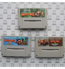Donkey Kong Lot 3 jeux pas cher jeux Super Famicom