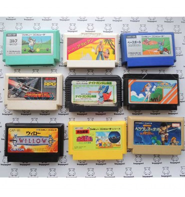 Set of 9 games (loose) Famicom
