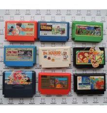 Lot de 9 jeux Famicom B (loose)