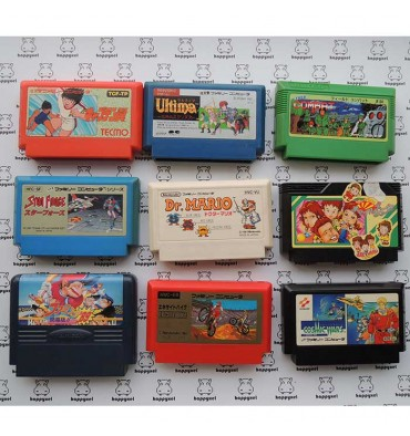 Set of 9 games (loose) Famicom