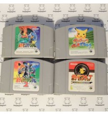 Lot de 4 jeux Nintendo 64 (loose) Pokemon