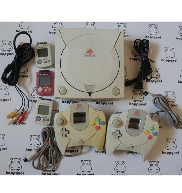 Dreamcast with 2 paddles and 3 memories